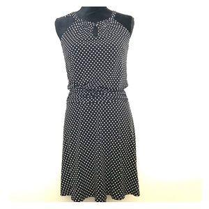 Black/White Polka Dot Dress, dressy to casual